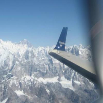 Vuelo de montaña en Nepal